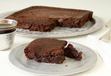 Шоколадно-овсяный брауни